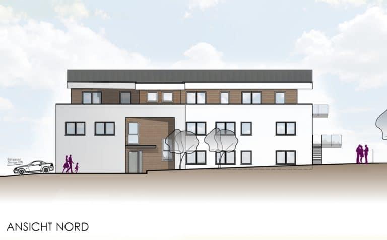 Projekt Mehrfamilienhaus Butzbach Ansicht Nord