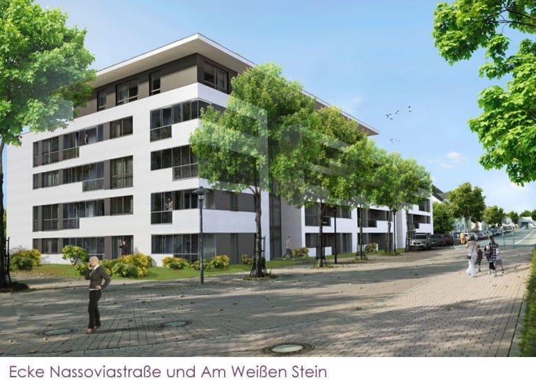 AS Norden Projekte Appartementhaus Am Weißen Stein Lagen Ansicht Nassoviastraße und Am Weißen Stein