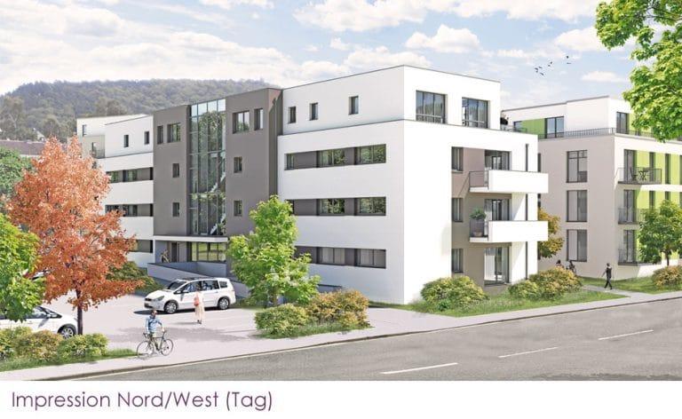 AS Norden Projekte Neubau von 17 Wohnungen Domicil 2 Premiumwohnen Ansicht Nord-West