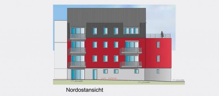 AS Norden Projekte Neubau von 7 Wohnappartemens Gießen Nordostansicht