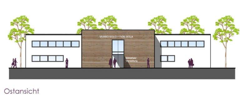 AS Norden Projekte Neubau Bibliotheks- und Verwaltungsgebäude Oberursel Ostansicht