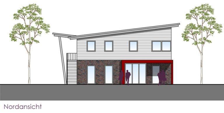 AS Norden Projekte Neubau Firmengebäude Norden Nordansicht