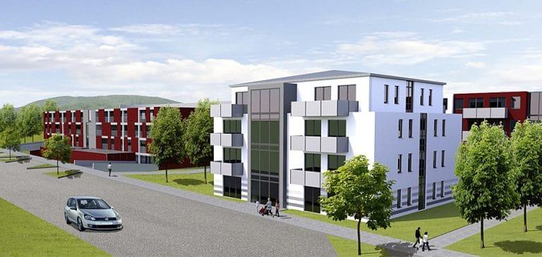 AS Norden Projekte Neubau Studentenappartements Alte Kasseler Straße Marburg Visualisierung