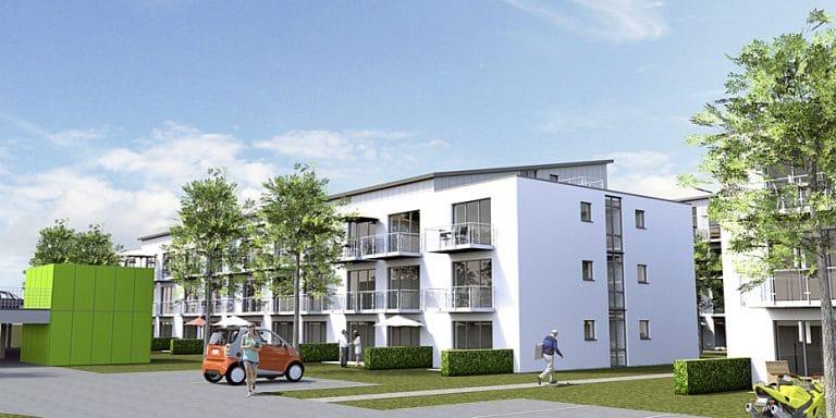 AS Norden Projekte Neubau Studentenappartements Sankt Augustin Visualisierung