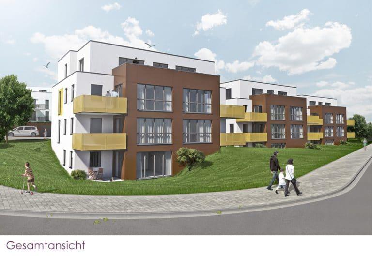 AS Norden Projekte Neubau von 18 Wohnungen am Kugelberg Gießen Gesamtansicht