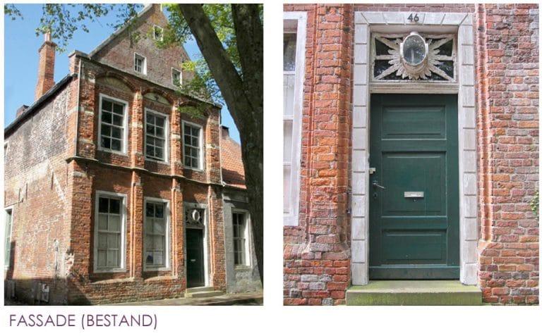 AS Norden Projekte Umbau und Sanierung Steinhaus Norden Fassade Bestand