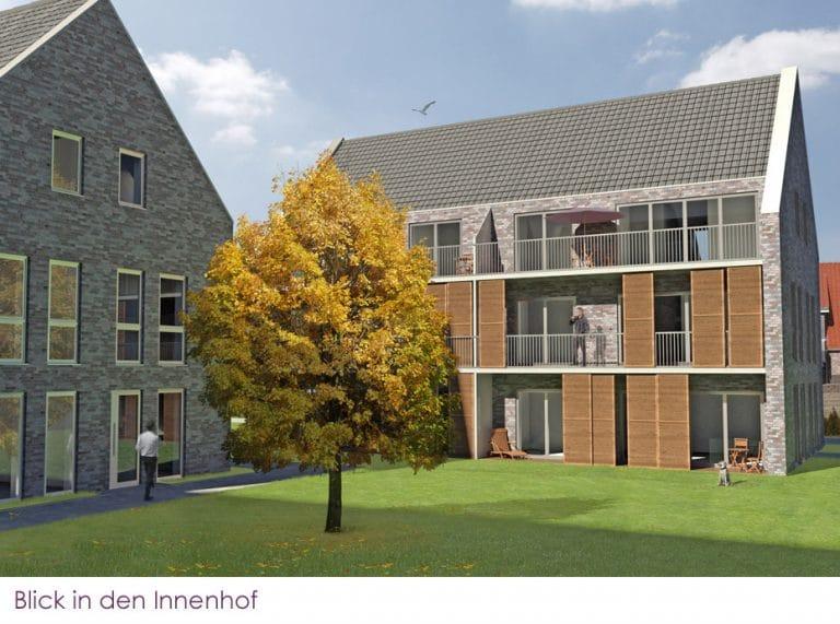 AS Norden Projekte Wohnen am Meer Norden Ansicht Innenhof