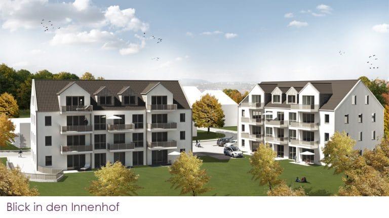 AS Norden Projekte Wohnen für den dritten Lebensabschnitt Grünberg Ansicht Innenhof