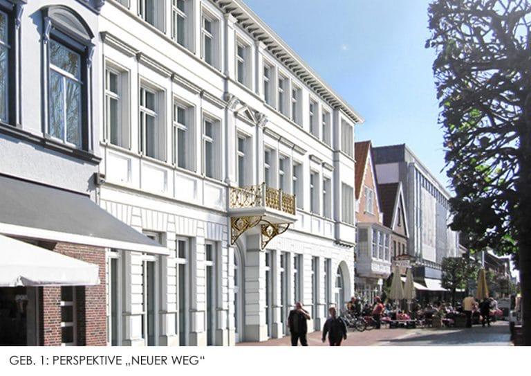 AS Norden Projekte Wohnquartier Stadthaus Norden Perspektive Neuer Weg